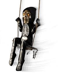 amazon com spirit halloween 3 ft swinging skeleton boy
