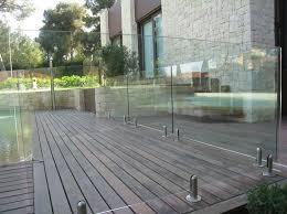 barandilla de cristal de cristal para piscina
