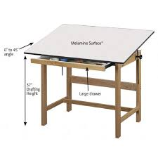 Wood Drafting Table Alvin Wtb48 Titan Wooden Drafting Table The 4 Post Alvin Titan