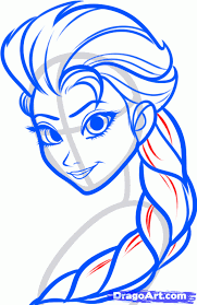 how to draw elsa elsa the snow queen from frozen step by step