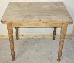 Small Pine Scrubbed Top Kitchen Table One Drawer Antiques Atlas - Small pine kitchen table