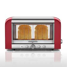 Motorised Toaster Magimix 2 Slot Vision Toaster 11528 Red Finish Amazon Co Uk