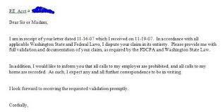 28 validation letter template sample debt validation letter