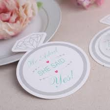 wedding coasters favors 1200pcs 100bags lot fashionable style diamond ring design paper