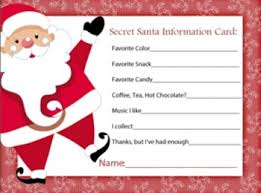 secret santa information sheet secret santa secret santa gifts