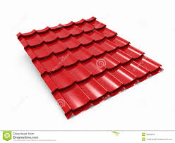 Metal Tile Roof Metal Roof Tile Sheet Stock Illustration Illustration Of