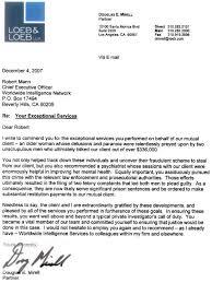 Legal Client Letter legal testimonials worldwide intelligence network