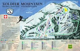 Rocky Mountain Range Map Soldier Mountain Ski Area Trail Map