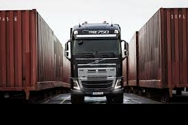 volvo reveals the abilities of its new truck by pulling a 750 ton