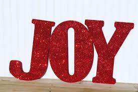 decorative 18 joy red glitter wall letters girls