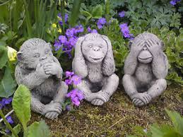three wise monkeys garden ornaments fasci garden