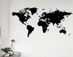 world map your decal shop nz designer wall art decals wall world map