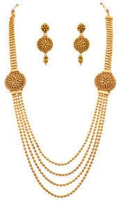 long necklace set images Jfl gold multi strand gold bead gold plated long necklace set jpg