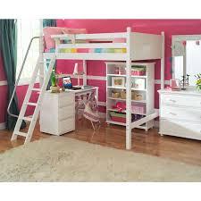 awesome elegant full size bunk bed with desk loft inside under
