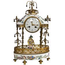 clock made of clocks antique 19th century porcelain table clock by j e caldwell u0026 sons