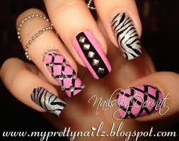 my pretty nailz birthday bling studded nail art design and video