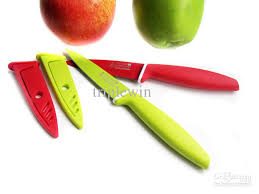 kitchen cutting knives 21cm fruit paring knife stainless steel sharp in silicone coated