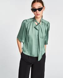 in satin blouses satin blouse with bow detail blouses shirts tops