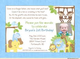 birthday announcements explorer photo invitation animals babies party photo