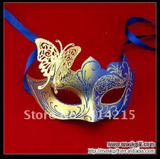 masquerade masks wholesale hot sell 7 inch blue and gold masquerade mask wholesale venetian