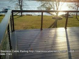 azek composite decking with stainless steel cable railing