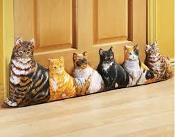 door draft stopper cat lover doorway energy saver a c fireplace