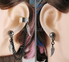 earring with chain to cartilage ipernity meri greenleaf s photos with the chain earrings