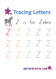letter z worksheets guruparents