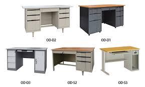 executive modern steel office desk design metal frame