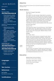 It Specialist Resume Sample by Technical Support Specialist Resume Samples Visualcv Resume
