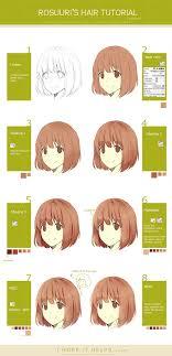anime hairstyles tutorial hair tutorial by rosuuri on deviantart