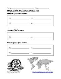 map skills worksheets middle worksheets
