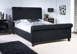 Ottoman Bed Black Limelight Orbit 5ft Kingsize Black Velvet Fabric Bed Frame By