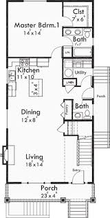 plan 10032tt arts u0026 crafts narrow lot house plan narrow lot