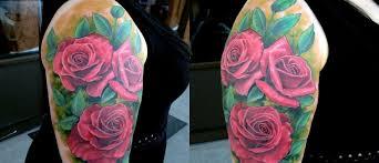 half sleeve roses union shop of resident artist nick