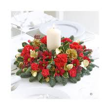 christmas candle table arrangement the flower box
