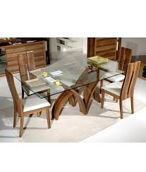 dining table solid wood glass top dining table roundhill