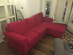 Ikea Chaise Lounge Sofa by Ikea Ektorp Two Seat Sofa And Chaise Longue Idamo Red Color In