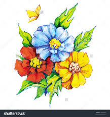 pencil drawings of flowers and butterflies beautiful flowers