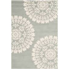 Area Rug Grey by Safavieh Handwoven Moroccan Reversible Dhurrie Grey Ivory Wool