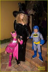 mariah carey celebrates halloween with her superhero kids photo