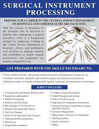 surgical instrument processing certificate program study