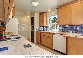 blue maple cabinets kitchen kitchen interior maple cabinets and back splash trim