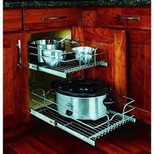 kitchen cabinet storage canada rev a shelf 58 15c 2 5 2 tier metal pull out cabinet basket
