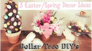 dollar tree easter spring decor ideas topiary cloches