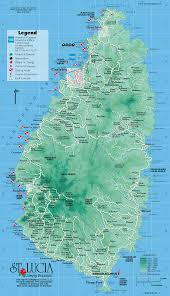 Map Of The Caribbean Islands st lucia from caribbean on line