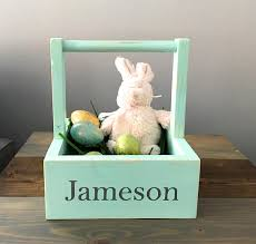 wooden easter baskets easter basket wooden easter box personalized box easter