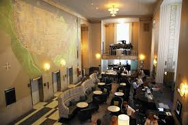 Downtown Chicago Hotels Map by Chicago Motor Club Building Rehab Gets Glorious U S A Map Mural