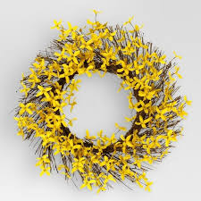 forsythia wreath artificial forsythia wreath 19 threshold target