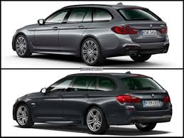 image comparison bmw g31 5 series touring against predecessor f11